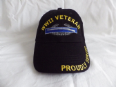 WORLD WAR II VETERAN ( WORLD WAR TWO ) EMBROIDERED BASEBALL CAP